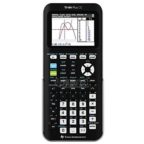 TRQJY Grafik-Taschenrechner, Farbgrafikrechner Hochauflösender Beleuchtetes Display TI-84-Funktionalität geeignet für AP SAT Internationale Prüfungs