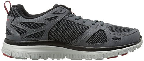 Skechers Flex AdvantageFirst Team Herren Sneakers Grau (Ccrd)