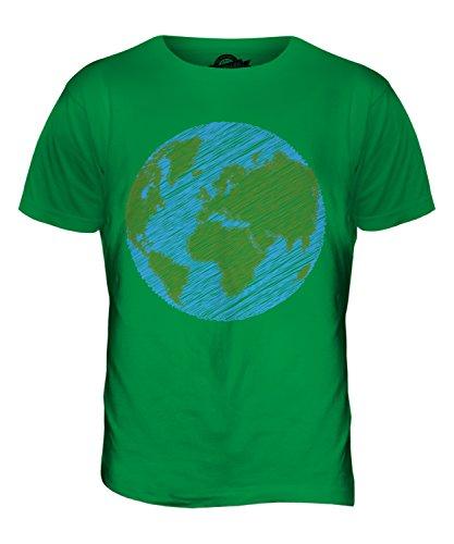 CandyMix Kritzelte Erde Herren T Shirt Grün