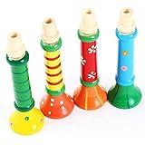 Malloom® 1 pcs Multi-color del bebé niños de madera Horn Hooter Trompeta Instrumentos Musicales Juguetes