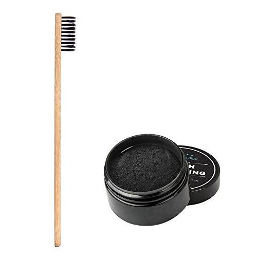 Poudre de blanchiment des dents & brosse à dents 100% naturel Sans Additifs Synthétique