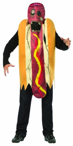 Rasta Imposta 6532-XL Mehrfarbiges Zombie-Hotdog-Kostüm (große Größen - Zombie Hot Dog Kostüm