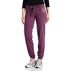 Aéropostale Women's Sports Tights (AE01138508_Deep Plum_Large)(10016333)