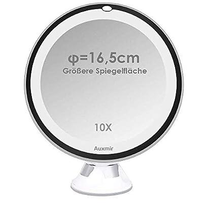 Auxmir Kosmetikspiegel LED mit Licht und 10X Vergrößerung