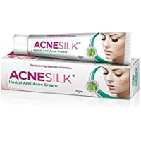Green Cure Acnesilk Herbal Anti Acne & Pimple cream with Bamboo Silk and Clover extracts, Paraben & EDTA Free, German…