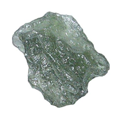 Moldavit kleines Natur Stück ugs auch Glas-Meteorit genannt ca. 10 - 15 mm (4723)