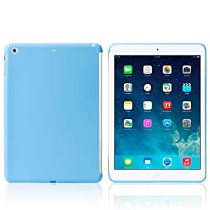 HELPYOU Blue ipad Air New Slim-Fit Snap On Soft TPU Gel Cover Protective Back Case for Apple