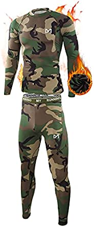 Men's Thermal Underwear Set, Sport Long Johns Base Layer for Male, Winter Gear Compression Suits for Skiing Ru
