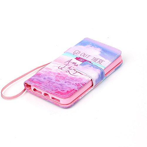 Hülle für Apple iPhone 5 5S SE - Yihya PU Leder Schutzhülle Handyhülle Magnetic Closure Style Flip Wallet [Stand Function] Cover Case mit Cards Slots und Lanyard Strap + Stylus Pen--Stil 09 Stil 28