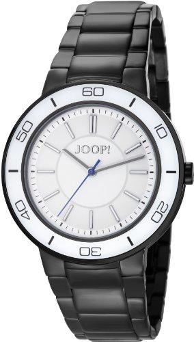 Joop Insight - Reloj de cuarzo para mujer, con correa de acero inoxidable, color negro
