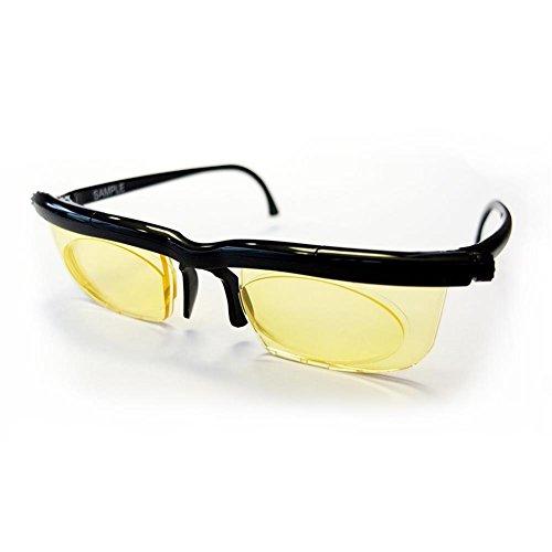 HC Handel 936188 Adlens-Brille Intervace - einstellbare Gläser mit Blaulichtfilter schwarz (Große Glas-medien)