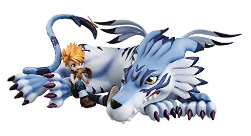 Digimon Adventure Series GEM Statue PVC Garurumon & Yamato 25 cm
