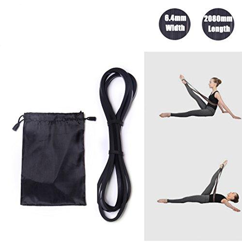 DoGeek Widerstandsband Fitnessbänder Set 4-Stärken by Ideal für Muskelaufbau Physiotherapie Pilates Yoga Gymnastik und Crossfit Fitnessband Gymnastikband (Schwarz 1)