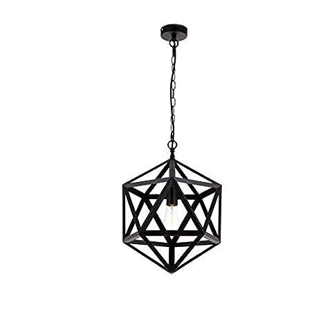 Retro Industrie Kronleuchter Kreativ Persönlichkeit Geometrisch Diamant Anhänger Schwarz Single