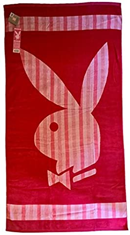 Playboy 405245 Beach Towel Classic Stripe Beach Towel Cotton 180 x 100 x 1 cm, Pink