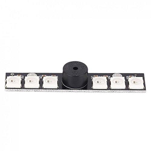 SODIAL WS2812B LED & 5V Aktive Buzzer 6 x RGB Chips LED-Anzeige fuer Matek NAZE32 Skyline 32 Flugsteuerung
