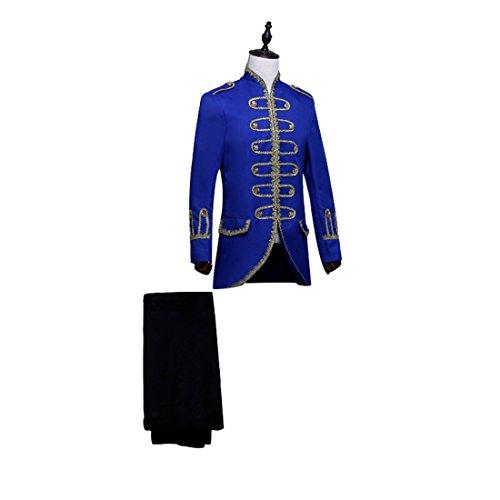 Nuoqi Prinz Herren Renaissance mittelalterliche Cosplay Kostüm Erwachsene (L, CC2640A-NI)