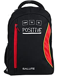 "SALUTE ""CAPACITY "" 38 Ltrs Black Red Casual Backpack I School Bag"