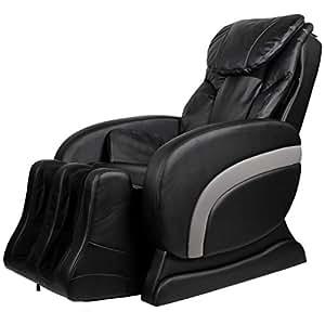 vidaXL Fauteuil de massage électrique en cuir artificiel Noir