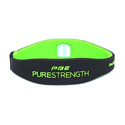 Power Balance Energy Sport ® Silikon infundiert Ionen-Armband, magnetisch, in verschiedenen Farben erhältlich, Größe S/M oder groß Black/Lime Green Large - 20.5cm (Farbe Verbesserung Ernährung)
