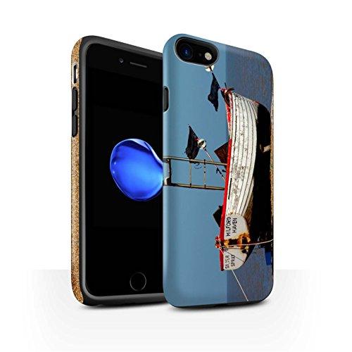 STUFF4 Matte Harten Stoßfest Hülle / Case für Apple iPhone 8 / Hütte Muster / Britischen Küste Kollektion Rostigen Boot