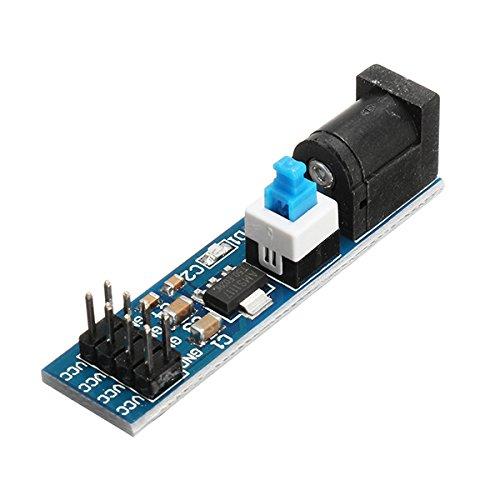 LaDicha 5Pcs Ams1117 5V Module d'alimentation avec Prise DC Et Interrupteur
