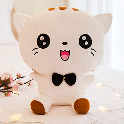 DWSM Ragdoll Plüschtier Weiße Runde Augen Großes Gesicht Katze Figur Kind Kissen Kreatives Geschenk 28Cm