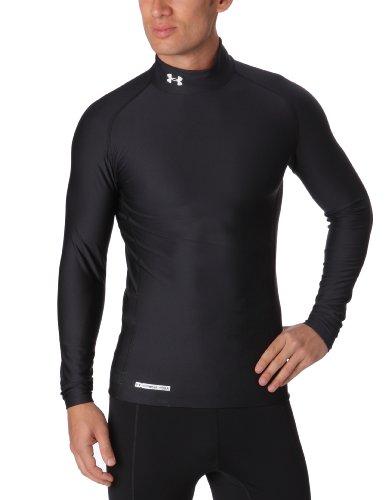 Under Armour Herren Shirt CG Compression Evo Mock, Black/White, S -
