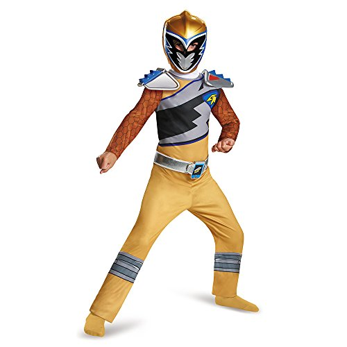 Power Rangers Dino Charge Gold Classic Child Costume 7-8 (Gold Power Ranger)