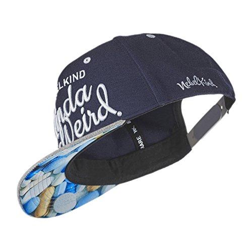 Nebelkind Unisex Snapback Cap Weird Verdrehter Schirm Kappe Blau One Size -