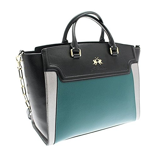 SHOPPING BAG LA MARTINA PORTENA - 243.006 BLACK/GREEN/SILVER mehrfarbig