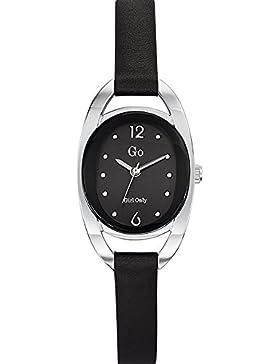 Go Girl Only Damen-Armbanduhr 698678–Quarz–Analog Zifferblatt schwarz Armband Leder schwarz