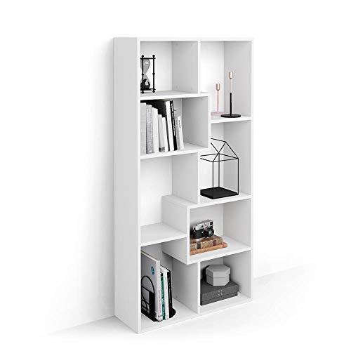 Mobili Fiver, Bücherregal Iacopo XS, Laminat, weiße Esche, 28 x 80 x 160,8 cm, Made in Italy -
