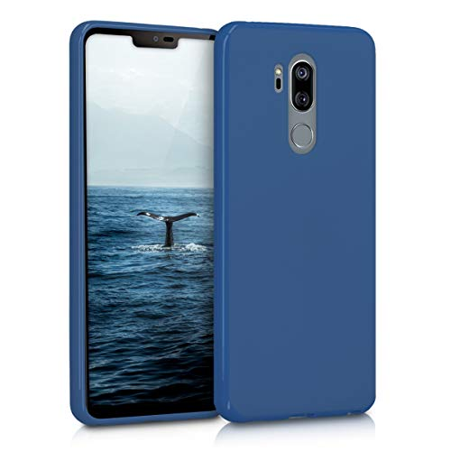 kwmobile LG G7 ThinQ/Fit/One Hülle - Handyhülle für LG G7 ThinQ/Fit/One - Handy Case in Marineblau