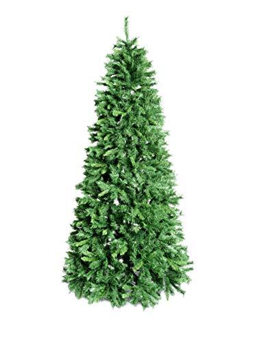 Xone albero di natale royal slim verde in pvc | albero folto di natale | 928 rami - 210cm