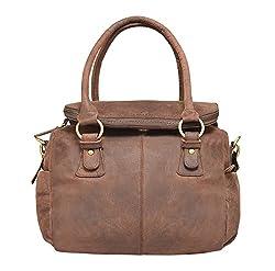 Leaderachi-100% Genuine Hunter Leather Womens Handbag [Warsaw]