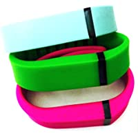 Preisvergleich für ! Small S 1pc Green 1pc Teal (Blue/Green) 1pc Purple / Pink Replacement Bands + 1pc Free Small Grey Band With Clasp for Fitbit FLEX Only /No tracker/ Wireless Activity Bracelet Sport Wristband Fit Bit Flex Bracelet Sport Arm Band Armband