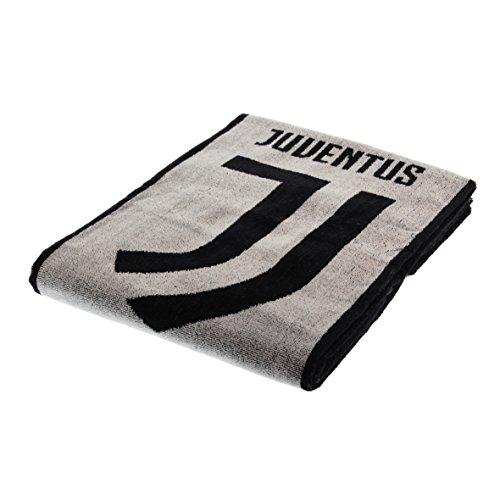 Asciugamano maxi ufficiale f.c. juventus nuovo logo 2018 telo mare juve 90x170cm extra spugna cimata egiziana lavorazione jaquard