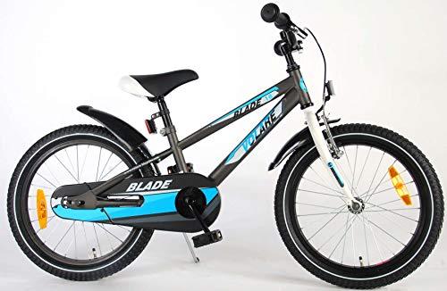 Unbekannt 18 Zoll Kinderfahrrad Jungenfahrrad Kinder Fahrrad Mädchenfahrrad Rad Bike Rücktrittbremse Blade Blau Grau 81813