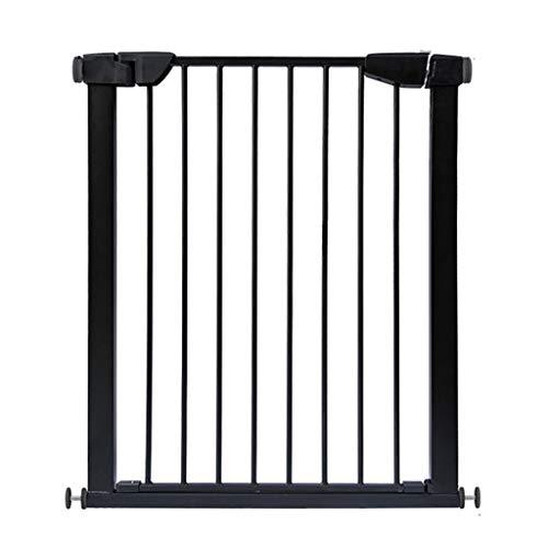 Barrière de sécurité Portes Noires de bébé pour des Portes d'escaliers, Porte très Large d'animal familier en métal de bâti sous Pression avec la Porte de Chat/Chien, 75-194cm
