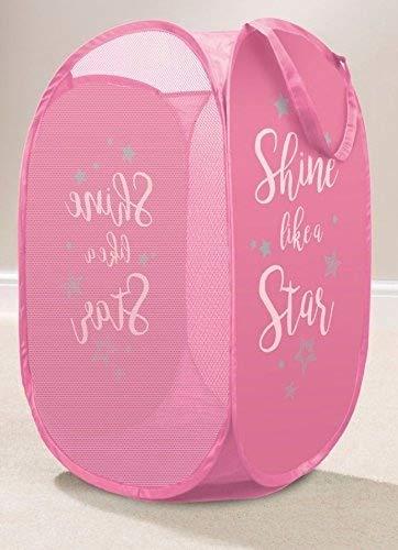 NCS Pop-Up-Wäschekorb, Badezimmer, Schlafzimmer, Spielzeug Shine Like a Star Pink