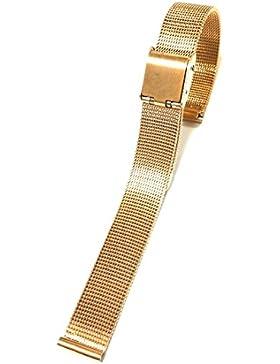 10mm Edelstahl-dünnes Ineinander greifen-Damen-Armband-Band-Rosen-Gold
