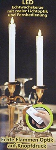 LED echt wachs Stabkerzen weiß elfenbein flammenlose Kerze mit Fernbedienung