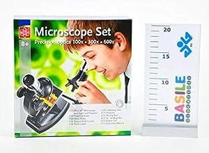 Edu Science Juego de microscopio con luz y proyector MS007