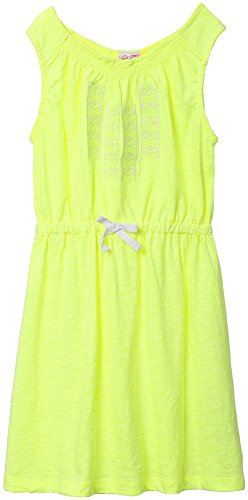 FS Mini Klub Girls' Regular Fit Dress (88KGODR0619 NEON GREEN 1_5 - 6 Years, Green, 5 - 6 Years)  available at amazon for Rs.254