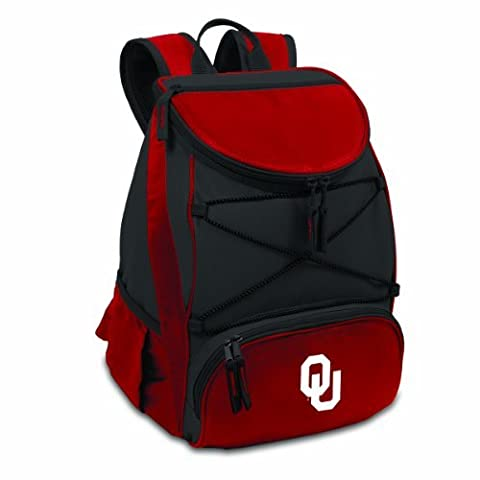 NCAA Oklahoma Sooners PTX Insulated Backpack Cooler, Red, Regular by Picnic Time