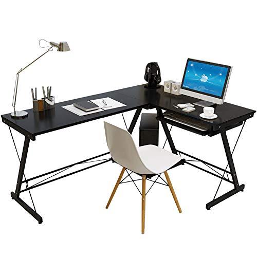 CDTO L-förmig Home Office Eckschreibtisch, Multipurpose Computer Tische Mit Tastaturauszug Schreiben Studie Bürotisch Pc Laptop-b -