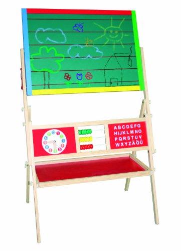 Imagen principal de Beluga 30038 - Pizarra de pie con ábaco, letras y reloj educativo (62 x 13 cm) [importado de Alemania]