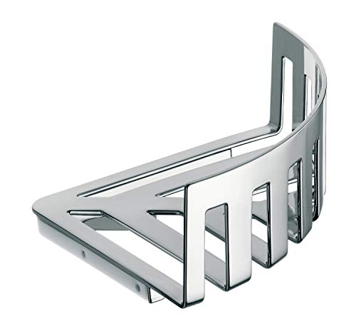 Emco System 2 Duschablage, Eckregal Badezimmer, Duschkorb, chrom, Maße 180 mm, für Wandmontage - 354500133