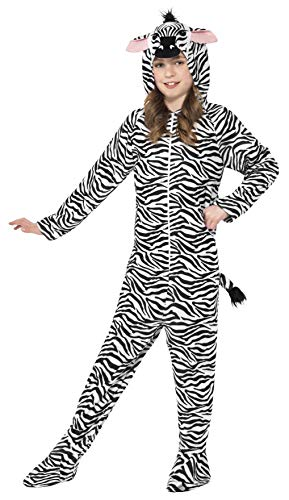 Smiffys Kinder Unisex Zebra Kostüm, All-in-One mit Kapuze, Größe: L, 27990 (Alle Kinder Für Kostüme)